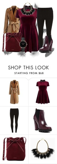 """Puderrot"" by bakoflower on Polyvore featuring Mode, Chicwish, Miss Selfridge, Dorothy Perkins, Charles David, Mansur Gavriel, Stella & Dot und Topshop"