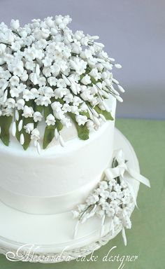 Lily of the valley wedding cake