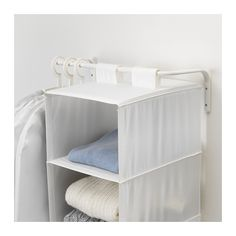 IKEA - MULIG, Clothes bar, white, Can be used anywhere in your home, even in damp areas like the bathroom and under covered balconies. The width can be adjusted to suit your needs. Combines with other products in the MULIG series. Ikea Mulig, Small Space Living, Small Spaces, Vintage Home Accessories, Small Room Organization, Support Mural, Attic Rooms, Bathroom Storage, Storage Shelves