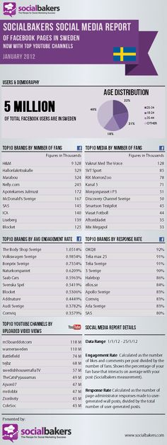 Socialbakers Social Media Report of Facebook Pages in Sweden (January 2012)