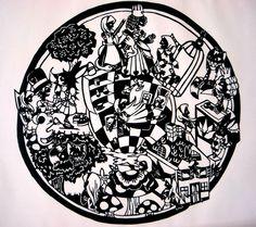 """Alice in Wonderland"" - Cut Paper Art by DJ Mewmew"
