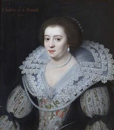 Charlotte de la Trémoïlle (1599–1664), Lady Strange, Later Countess of Derby  by Michiel Jansz. van Miereveld