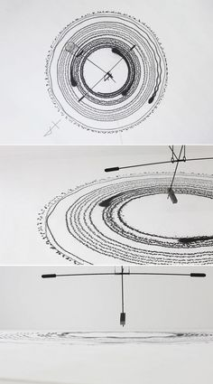 kyouei design's magnetic field record artfully documents gravity  #information #design