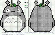 Totoro for cross stitch pattern. I am so making this Hama Beads Patterns, Beading Patterns, Embroidery Patterns, Cross Stitch Charts, Cross Stitch Designs, Cross Stitch Patterns, Cross Stitching, Cross Stitch Embroidery, Crochet Pixel