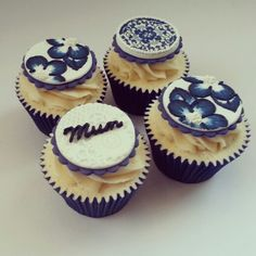 Blue China Cupcakes - Beanie's Bakery