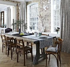 Country dining room with fabrics by Prestigious Textiles Country Dining Rooms, Decor, Table, Home, Furnishings, Cozy House, Prestigious Textiles, Interior Design, Dining Table