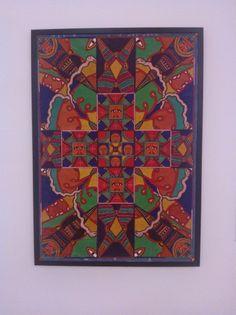 Géra, encre sur toile, origine M du quai Branly, MNAM salle afrique moderne en mars 14.jpg