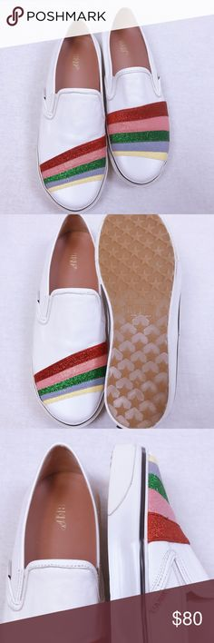 red valentino SLIP-ON with rainbow Very soft leather, very comfortable on the foot, a little defect on the right foot does not affect the appearance, no box red valentino Shoes Flats & Loafers