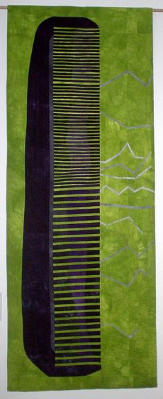 Comb No. 1/ Judy Kirpich This is the first of a series of 10 quilts following my father's bout with cancer.