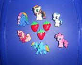 My Little Pony Resin Flatbacks Scrapbooking Hair Bow Center Set of 6