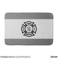 Firefighter Rescue Bath Mat Firefighter Emt, Quick Dry, Memory Foam, Bath Mat, Restoration, How Are You Feeling, Bathrooms