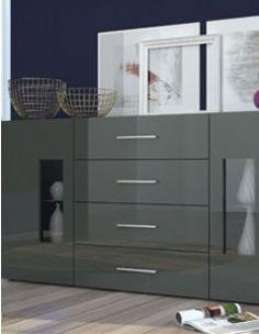 Buffet anthracite laqué design avec LED GATINO Decoration, Buffet, Led, Design, Furniture, Home Decor, Modern, Home, Dinning Room Ideas