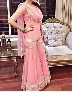 khan Free Drum Lesson From Top Pro's Across The World Click Now Pakistani Dresses Casual, Indian Fashion Dresses, Pakistani Dress Design, Indian Designer Outfits, Indian Outfits, Shadi Dresses, Western Outfits, Gharara Designs, Designer Party Wear Dresses