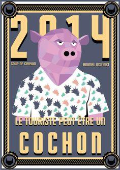 // Le touriste peut être un cochon //  #cochon #pig #esprit #animal #espritanimal #animalspirit #spirit #animals #animaux #graphisme #vectoriel