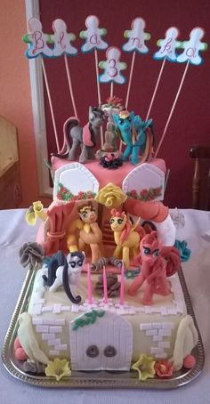 pónis torta. My Little pony cake.