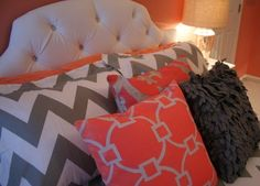 Coral Bedroom Design Ideas, Pictures, Remodel and Decor
