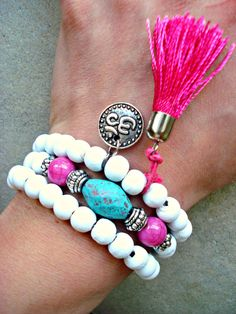 Yoga Bracelet Yoga Jewellery Mala Bracelet by HandcraftedYoga, $28.00