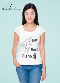 Love this shirt! Would love to wear this to my piano class and while i practice. I know all my piano friends will love this!