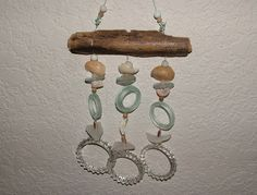 Shells, Driftwood and Recycled Glass Wind Chime. $22.00, via Etsy.