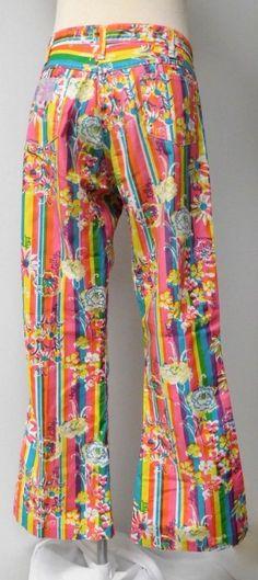 1339c66e9ef0f9 LILLY PULITZER MEN'S STUFF VNTG PULITZER JEANS FLORAL STRIPE PRINT BELL  BOTTOMS #LillyPulitzer #Jeans