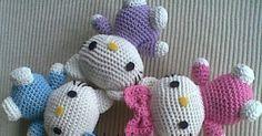 Zan Crochet: Hello Kitty Amigurumi - free crochet pattern by Zan Merry. Crochet Gratis, Crochet Amigurumi Free Patterns, Cute Crochet, Crochet Dolls, Crochet Baby, Doll Patterns Free, Baby Patterns, Crochet Hello Kitty, Hello Kitty Crafts
