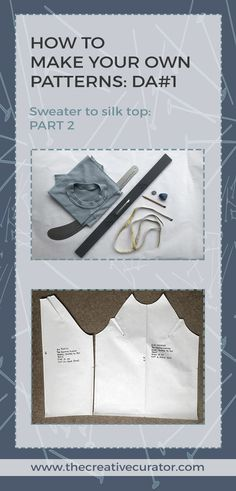 CLICK through Sewing Beginners! Create Your Own Clothes: DA1 From Jumper to Top - Part Two of my step-by-step patternmaking tutorial.
