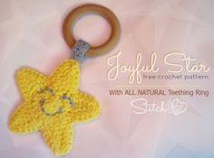 Joyful Star Teething Ring - Free Crochet Pattern
