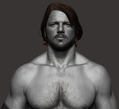 AJ Styles - WWE, Hossein Diba on ArtStation at https://www.artstation.com/artwork/3PYJJ