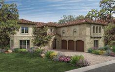 I love Tuscan design!   Architectural Exterior Home Designs