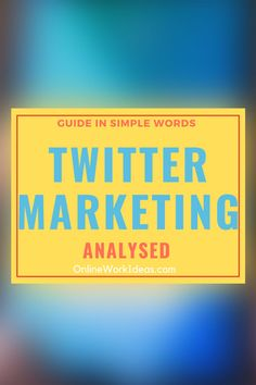 Twitter marketing is the promotion of products and services. This takes place within the Twitter social network. Twitter marketing is another effective internet marketing method. Read on to .....Read complete guide by clicking image! #twitter #twittermarketing #digitalmarketing #interenetmarketing #socialmedia #traffic #websitetraffic What Is Twitter, Social Media Marketing, Digital Marketing, Simple Words, Business Website, Online Work, Pinterest Marketing, Seo, Promotion