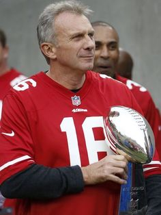 Bell: San Francisco icon Joe Montana knows what lies ahead in Super Bowl 50 Nfl 49ers, 49ers Fans, American Football, Football Players, Football Team, Football Helmets, Joe Montana, Peyton Manning, Denver Broncos