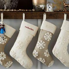 Felt Snowflake Stocking | West Elm
