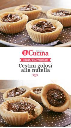 Cestini golosi alla #nutella della nostra utente Sanny. Unisciti alla nostra Community ed invia le tue ricette!