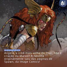 #CoxinhaCuriosa A personagem foi criada por Todd McFarlane e Neil Gaiman em 1993 mas sua primeira aparição na Marvel aconteceu somente em 2013 depois de uma longa batalha judicial entre seus criadores pelos direitos da personagem. Após a vitória de Gaiman no processo Angela virou parte da Marvel a irmã secreta de Thor e membro dos Guardiões da Galáxia!  #TimelineAcessivel #PraCegoVer  Imagem da personagem Angela com a curiosidade: Angela a irmã mais velha do Thor não é criação da Marvel! A…
