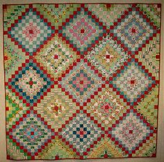 Vintage quilt - Many Trips Around the World