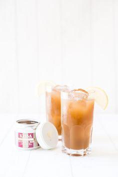 Earl Grey Apfel Juice - KISSA Tea Summer Drink Recipes, Summer Drinks, Tea Powder, Earl Grey Tea, Lemon Slice, Apple Juice, Cocktails, Sweet, Apple