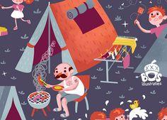 Camping is fun! - pattern
