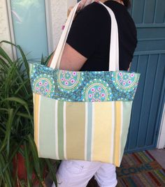 Reversible tote Tote bag Fabric tote bag Travel by SweetMagnoleah, $25.00