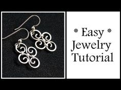 Easy Jewelry Tutorial Simple Swirl Earrings : Wire Wrapping for Beginners - YouTube
