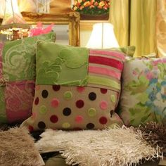 Custom Made Cushions In Varying Sizes And Colours Made From European Fabric Collections by