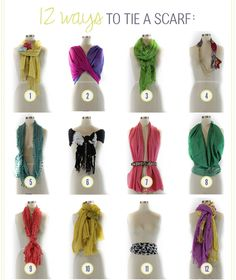 Some scarf tying tips