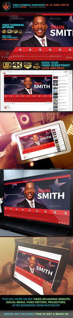 Political YouTube Video Thumbnail Screenshot Template 4 - YouTube Social Media