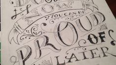 Lovely sketch in progress by Liz Lopez - Do something now, you can be proud of later