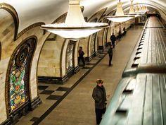 subway moscow: Novoslobodskaja