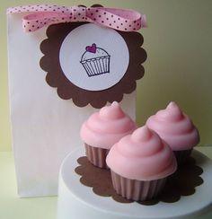 Raspberry Cream Mini Cupcake Gift Set Goat's Milk Soap by KcSoapsNmore, $5.50