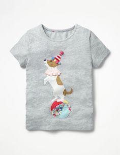 T-Shirts, Tops & Shirts EX-MINI BODEN GIRLS CUTE APPLIQUE JERSEY HORSE-FLOWER BIRD T-SHIRT AGES 2-14