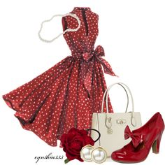 I would probably never wear this but still like. My inner Doris Day!      --Throwback, created by cynthia335 on Polyvore