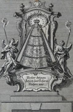 Beneath your compassion we take refugeAn 18th century engraving of the statue of Our Lady of Loreto venerated in the shrine of Maria Loretto in Oggersheim, Germany.