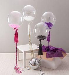 feather filled party balloon by bubblegum balloons | notonthehighstreet.com