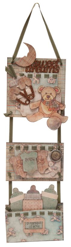 Baby Wall Plaque - FabScraps Craftwork Cards, Wall Plaques, Baby Cards, Mini Albums, Kids Room, Paper Crafts, Baby Shower, Quilts, Projects